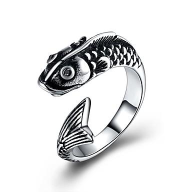 levne Pánské šperky-Pánské Vyzvánění obalovací kroužek Stříbrná Nerez Titanová ocel Animák Módní Obřad Klub Šperky Delfín Zvíře