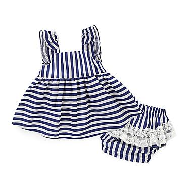 povoljno Odjeća za bebe-Dijete Djevojčice Na prugice Dnevno Jedna barva / Dungi Pamuk Komplet odjeće Obala