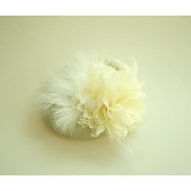 Τούλι / Βαμβακοφανέλλα / Φτερό Γοητευτικά / Καπέλα με Φτερό 1 Γάμου / Ειδική Περίσταση / Εκδήλωση / Πάρτι Headpiece