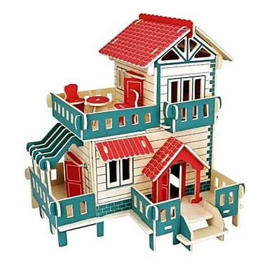 levne 3D puzzle-3D puzzle Puzzle Dřevěný model Modele domky Móda Hrad Dům Klasické Módní Nový design Děti Udělej si sám Žhavá sleva Dřevo 1pcs Módní a