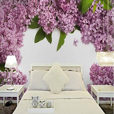 preiswerte Wandgemälde-Wandgemälde Segeltuch Wandverkleidung - Klebstoff erforderlich Blumen / Pflanzen