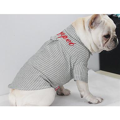 Σκύλος T-shirt Ρούχα για σκύλους Βρετανικό Πράσινο Μπλε Πούπουλα Βαμβάκι Στολές Για Άνοιξη & Χειμώνας Χειμώνας Ανδρικά Γυναικεία Καθημερινά