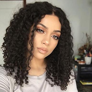 Cabelo Humano Parte U Peruca Corte em Camadas estilo Cabelo Brasileiro Encaracolado Kinky Curly Peruca 130% Densidade do Cabelo com o cabelo do bebê Riscas Naturais Para Mulheres Negras 100% Virgem