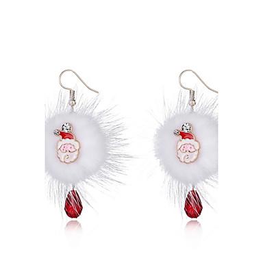 Γυναικεία Κρεμαστά Σκουλαρίκια Απλός Χιπ-Χοπ Σκουλαρίκια Κοσμήματα Λευκό Για Χριστούγεννα