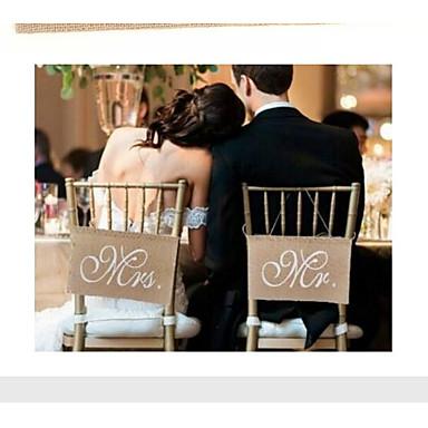 Jedinstven svadbeni dekor Lan / Miješani materijal Vjenčanje Dekoracije Vjenčanje / Angažman / Svadba Klasični Tema Sva doba