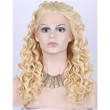 Synthetic Lace Front Wig Curly Wavy Style Lace Front Wig