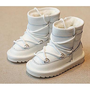 Αγορίστικα Παπούτσια Δερμάτινο Χειμώνας Φθινόπωρο Μπότες Χιονιού  Κυματοειδής επένδυση Μπότες για Causal Λευκό Μαύρο 6299006 2019 –  19.99 7a50df868e9