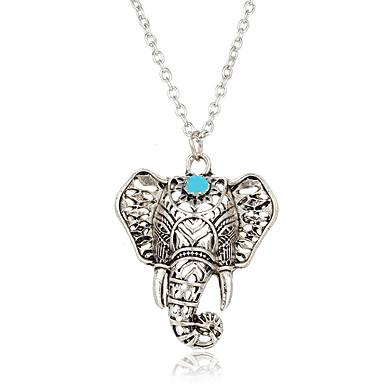 povoljno Modne ogrlice-Žene Tirkiz Ogrlice s privjeskom Slon Sa životinjama dame Boemski stil Boho Glina Tirkiz Pink Ogrlice Jewelry Za Kauzalni Ulica