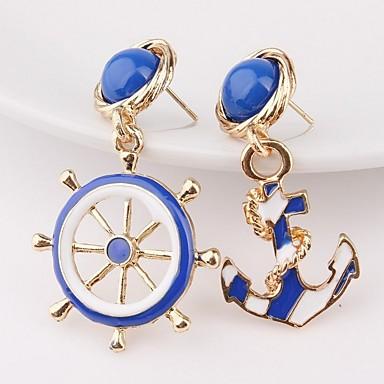povoljno Modne naušnice-Žene Nesparene naušnice Sidro Naušnice Jewelry Zlato Za Dar Izlasci