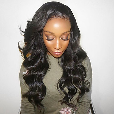 Human Hair Lace Front Wig Layered Haircut Brazilian Hair Deep Wave Wig 130% Density Baby Hair Natural Hairline Black Women 100% Virgin Unprocessed Women's Short Medium Length Long Human Hair