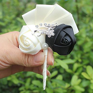 Λουλούδια Γάμου Μπουτονιέρες Γάμου Σατέν 3.94 inch