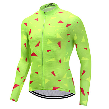 5d1350e5da78 FUALRNY® Ανδρικά Μακρυμάνικο Φανέλα ποδηλασίας - Πράσινο Ποδήλατο Αθλητική  μπλούζα Αθλητισμός Χειμώνας Ρούχα   Υψηλή Ελαστικότητα 6478750 2019 –  30.59