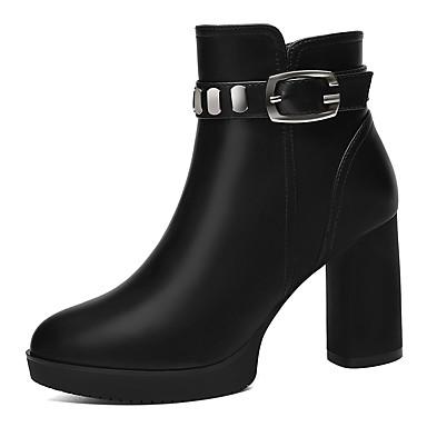 Hombre Zapatos Cuero Sintético Otoño / Invierno Botas de Moda Botas Botines / Hasta el Tobillo Negro / Rojo / Fiesta y Noche 5gp1bau