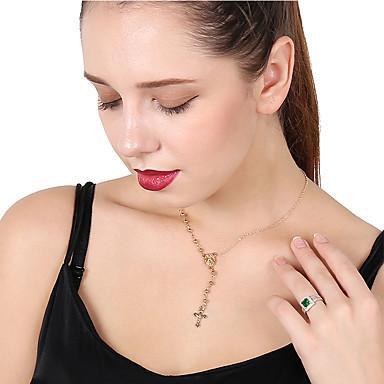 levne Dámské šperky-Dámské Náhrdelníky s přívěšky Límeček Haç Štras Kov Slitina Zlatá Stříbrná Náhrdelníky Šperky Pro Denní Street