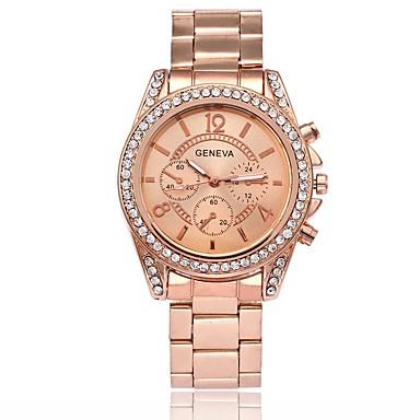preiswerte Luxusuhren-Herrn Damen Uhr Luxus-Armbanduhren Modeuhr Armbanduhr Quartz Metall Legierung Silber / Gold / Rotgold Schlussverkauf Analog Luxus Silber Gold Rotgold / Ein Jahr