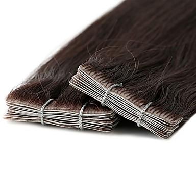 povoljno Ekstenzije za kosu-Neitsi S ljepljivom trakom Proširenja ljudske kose Klasika Ljudska kosa Ekstenzije od ljudske kose Sidespray Novi Dolazak Žene Srednje smeđa