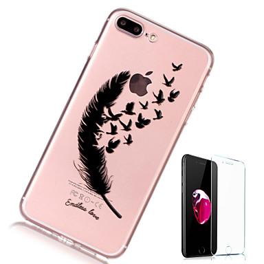 tok Για Apple iPhone X / iPhone 8 Plus / iPhone 8 Διαφανής / Με σχέδια Πίσω Κάλυμμα Φτερά Μαλακή TPU