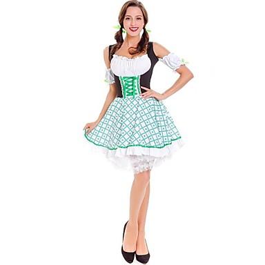 Halloween Απόκριες Oktoberfest Dirndl Trachtenkleider Γυναικεία Φόρεμα Περισσότερα Αξεσουάρ βαυάρος Στολές Λευκό