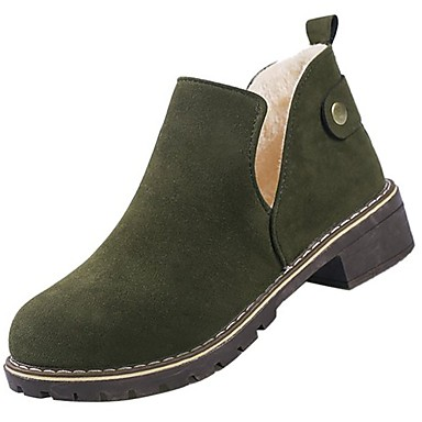 0668f3256b70 Women s Shoes PU Winter Combat Boots Boots Low Heel Round Toe Booties Ankle  Boots for Casual Black Brown Green 6406270 2019 –  19.99