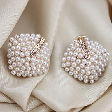 Γυναικεία Κουμπωτά Σκουλαρίκια κυρίες Απομίμηση Μαργαριταριού Σκουλαρίκια Κοσμήματα Λευκό Για Δώρο Φεστιβάλ