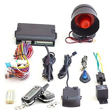 voordelige Automatisch Electronica-3000 m super lange afstand twee-weg auto alarmsysteem met afstandsbediening - zwart