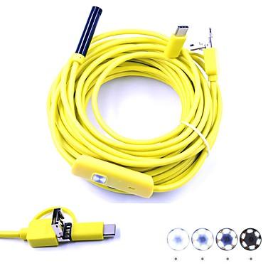 3 σε 1 επιθεώρηση endoscope usb borescop μίνι κάμερα 10m hardwire 7mm φακό αδιάβροχο ip67 φίδι cam 6 οδήγησε για το Android pc