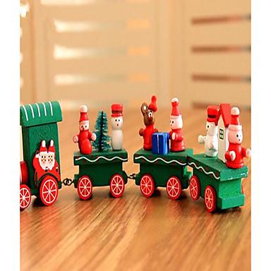Χριστουγεννιάτικα δώρα Χριστουγεννιάτικα Παιχνίδια Τρένο Παιχνίδια Ουρά Διακοπών Παιδικά Κλασσικό Χιονάνθρωπος Ξύλο 1pcs Κομμάτια