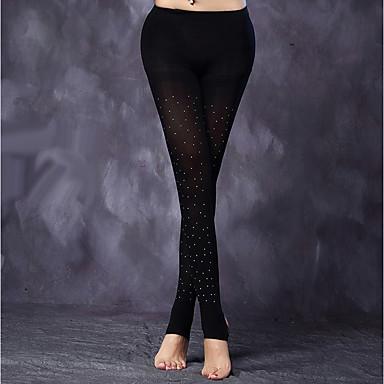 Λάτιν Χοροί Καλσόν Γυναικεία Επίδοση Spandex Τεχνητό διαμάντι Κάλτσες