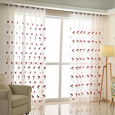 Χώρα Αποχρώσεις διάφανες κουρτίνες Διαφανές Εσωτερικό   Curtains / Κεντήματα / Υπνοδωμάτιο
