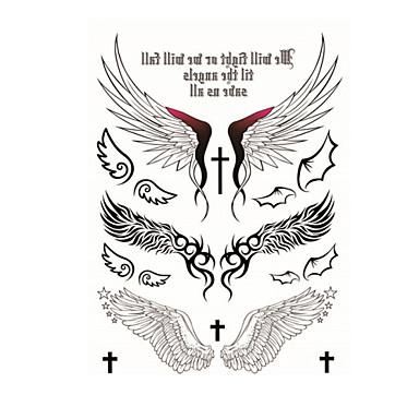 1 pcs Tatueringsklistermärken tillfälliga tatueringar Totemserier Engångsvara / Hög kvalitet, fri formaldehyd Body art Kropp / tillbaka / Tattoo Sticker