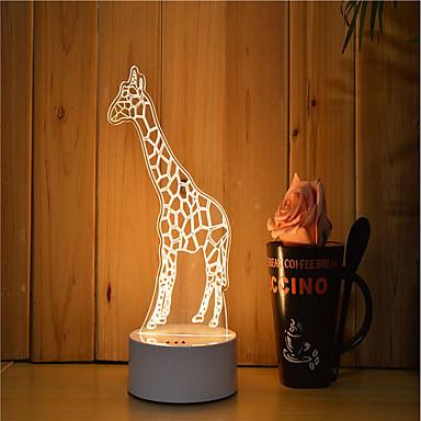 1set 3D Nightlight Με ροοστάτη / Φωτιστικό LED / Διακοσμητικό Καλλιτεχνικό / LED / Σύγχρονη Σύγχρονη