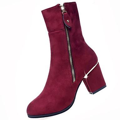 Mujer Zapatos Semicuero Otoño / Invierno Tacón Cuadrado Mitad de Gemelo Pedrería / Cuentas Negro Vente Sast Prix Pas Cher De La France QBr8kBz6