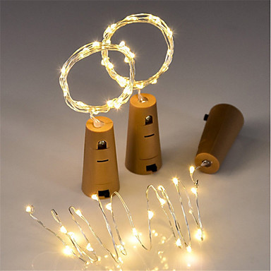 0,75 μέτρα Ευέλικτες LED Φωτολωρίδες / Φώτα σε Κορδόνι 15 LEDs SMD 0603 Θερμό Λευκό Χριστούγεννα / Πρωτοχρονιά Αδιάβροχη / Διακοσμητικό / Γάμος Μπαταρίες Powered 3pcs / IP65