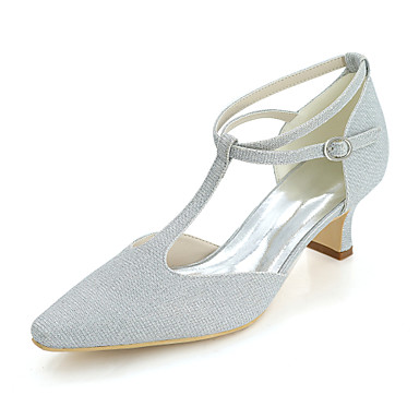 bb5994c25a70 Women s Shoes Glitter Spring   Summer Comfort Wedding Shoes Square Toe  Silver   Red   Blue   Block Heel   Party   Evening 6398384 2019 –  35.99