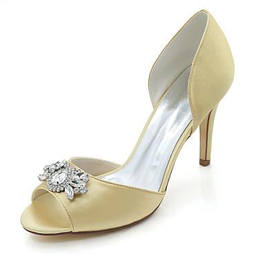 Mujer Zapatos Encaje Primavera / Verano Pump Básico Zapatos de boda Tacón Stiletto Punta abierta Rojo / Azul / Marfil L'offre De Vente Pas Cher xiwEeKDX