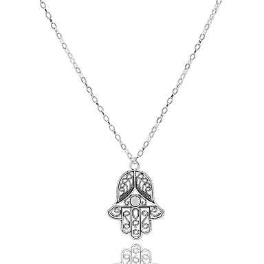 Dam Hänge Halsband Billig Europeisk Minimalistisk Stil Legering Silver Halsband Smycken Till Party Dagligen Casual