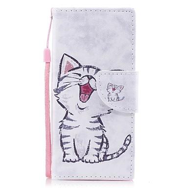 tok Για Sony / Sony Xperia XA Sony Xperia XZ1 / Sony Xperia XA1 / Sony Xperia XA Πορτοφόλι / Θήκη καρτών / με βάση στήριξης Πλήρης Θήκη Γάτα Σκληρή PU δέρμα