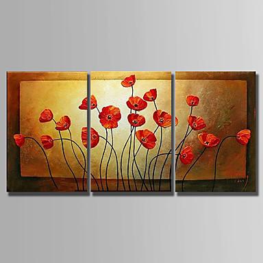 povoljno Ulja na platnu-Hang oslikana uljanim bojama Ručno oslikana - Sažetak Sažetak Platno / Tri plohe / Prošireni platno