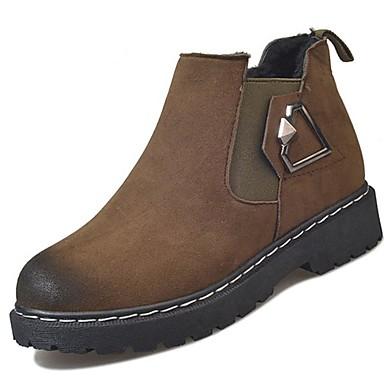 Mujer Zapatos Cuero Otoño invierno Botas de Combate Botas Tacón Cuadrado Dedo redondo Botines / Hasta el Tobillo Negro adjiRVR8l