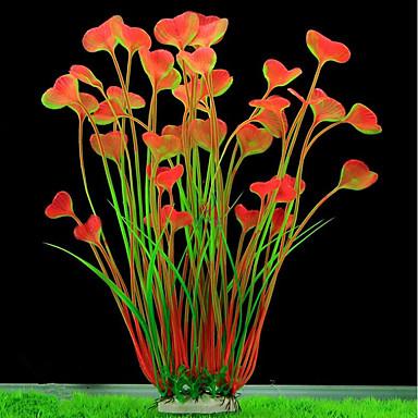 Ενυδρείο ψαριών Διακόσμηση Ενυδρείου Τεχνητά φυτά Hornwort Anacharis Υδρόβιο φυτό Τεχνητά φυτά Πράσινο Διακοσμητικό Πλαστικά Επικάλυψη Πορσελάνης 2 40 cm