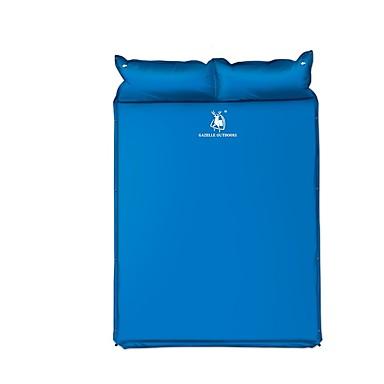 HUILINGYANG Almofada de Dormir Almofada de Dormir Auto-Inflável Ao ar livre Campismo Grossa Inflado Engrossar Acampar e Caminhar Pesca Praia para 2 Pessoas Todas as Estações Azul