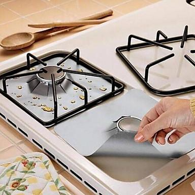 billige Køkken & Madlavning-2 stk. Genanvendelig folie gaskomfur rækkevidde stovetop brænder protektor liner cover