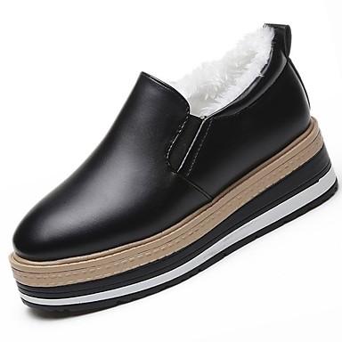 5c408f56 Mujer PU Otoño / Invierno Confort Zapatos de taco bajo y Slip-On Dedo  redondo Negro 6407129 2019 – $19.99