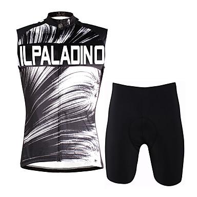 c75313bdf5 ILPALADINO Homens Sem Manga Camisa com Shorts para Ciclismo - Cinzento Moto  Colete Shorts Acolchoados Conjuntos de Roupas