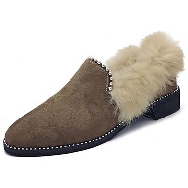 Mujer Zapatos Goma Invierno Confort Zapatos de taco bajo y Slip-On Dedo  redondo para Al aire libre Negro Caqui 6364549 2019 –  19.99 bc642be459184