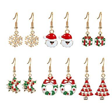 Γυναικεία Cubic Zirconia Κρεμαστά Σκουλαρίκια Χριστουγεννιάτικο δέντρο κυρίες Ζιρκονίτης Επιχρυσωμένο Σκουλαρίκια Κοσμήματα Ουράνιο Τόξο Για Χριστούγεννα Πρωτοχρονιά 6