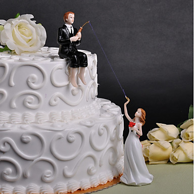 Vârfuri De Tort Prieteni Nuntă Plexiglas Nuntă Petrecere Cu Cutie De