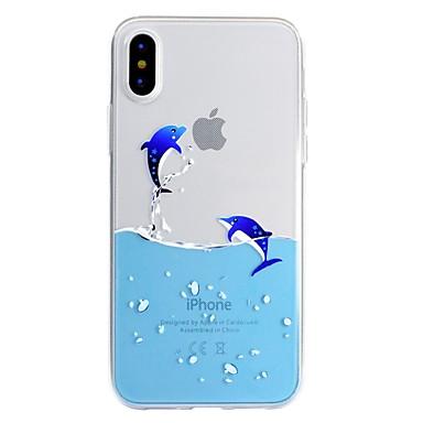 povoljno iPhone maske-Θήκη Za Apple iPhone X / iPhone 8 Plus / iPhone 8 Uzorak Stražnja maska Igra s Appleovim logom / Crtani film Mekano TPU