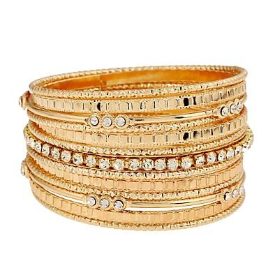 povoljno Modne narukvice-Žene Nakit za gležanj Zamotajte Narukvice Statement dame Klasik Moda Dubai Imitacija dijamanta Narukvica Nakit Zlato Za Dnevno Prom Obećanje