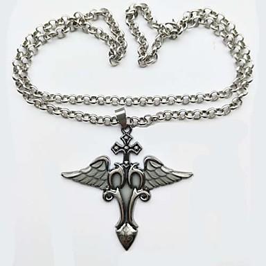 preiswerte Luxus Schmuck-Herrn Damen Pendant Halskette Böses Auge Rockig leuchtend Metal Aleación Silber Modische Halsketten Schmuck 1 Für Party Karnival